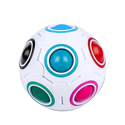 Yordawn Magic Rainbow Ball Magic Ball Puzzle Fidget Toy 3D Puzzle Cube Bola Mágica del Arco Iris Speed Cube Regalo Cerebro Teaser Juguete Educativo para Niños