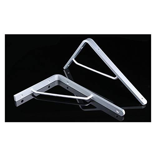 2 Stück Heavy Duty Regalträger Stativ Dreieck Regalträger, 90 Grad-Winkel der Wand befestigtes Regal Supporter-Klammer-Rahmen, Aluminium-Legierung (200 * 155mm)