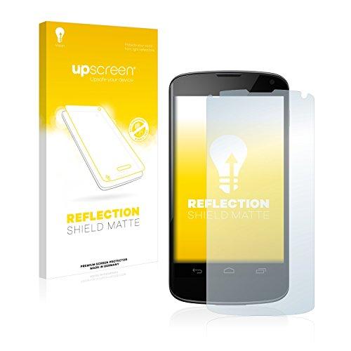 upscreen Entspiegelungs-Schutzfolie kompatibel mit Google Nexus 4 – Anti-Reflex Bildschirmschutz-Folie Matt