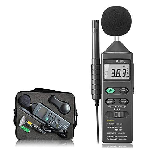 4 in 1 Digitaler Typ Multifunktion Umwelttester, Schallmessung und Photometrisch und Feuchtigkeit und Temperatur messung, zum Professionel Industrie Geschäft Haushalt