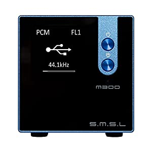 SMSL M300 MKII DAC Uses AKM's Flagship Audio Decoding Chip AK4497, Ultra-high SNR, Ultra-low Distortion to Support DSD (blue)