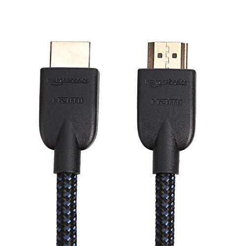 Sony HT-SF200 2.1-Kanal kompakte TV Soundbar mit eingebautem Subwoofer (Home Entertainment System, HDMI, Bluetooth, USB, Surround Sound) schwarz & Amazon Basics - Geflochtenes HDMI-Kabel, 0,9 m