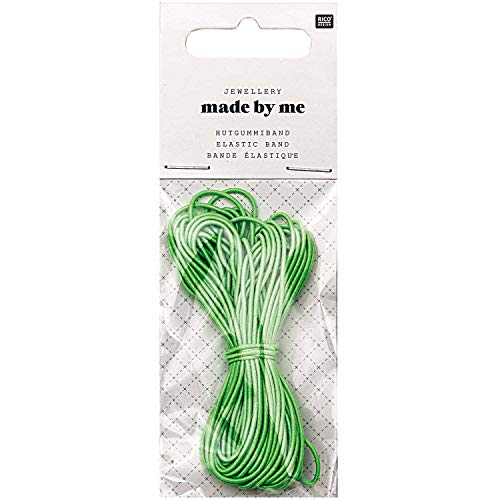 Made By Me Hut-Gummi – neon-grün – 1 mm x 5 m