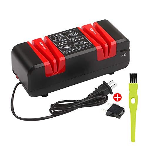 Affilacoltelli elettrico professionale affilacoltelli automatico con smusso di 15 gradi e scanalature sottili per coltelli dritti seghettati forbici taglierina da cucina con detergente