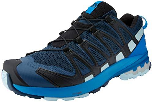 Salomon Herren XA PRO 3D V8, Leichte Schuhe für Trail Running und Wandern, Blau (Sargasso Sea/Imperial Blue/Angel Falls),42 EU