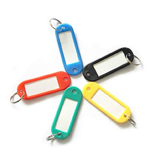 Plastic Key Tags with Key Ring for Luggage Pet Name Cards Car Label 5 Pcssecurity