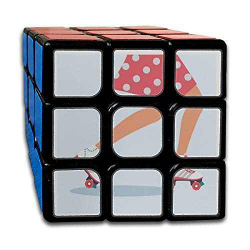 Custom 3x3 Speed Cube Kids Best Brain Training Toys 3x3x3 Sports Roller Skate Shoes Cube 3 Magic Party Game for Boys Girls Kids Toddlers-55mm