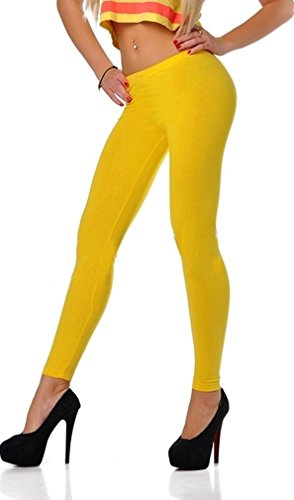 Leggins amarillos Para Mujer Largo (Color Amarillo)