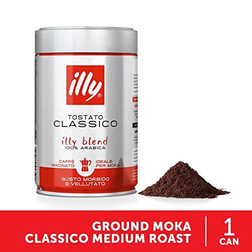 illy Kaffee, Gemahlener Mokka-Kaffee Classico, klassische Röstung - 1 Dose zu 250 g