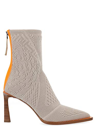 FENDI Luxury Fashion Damen 8T6983A8T7F18DT Beige Polyester Stiefeletten | Herbst Winter 19