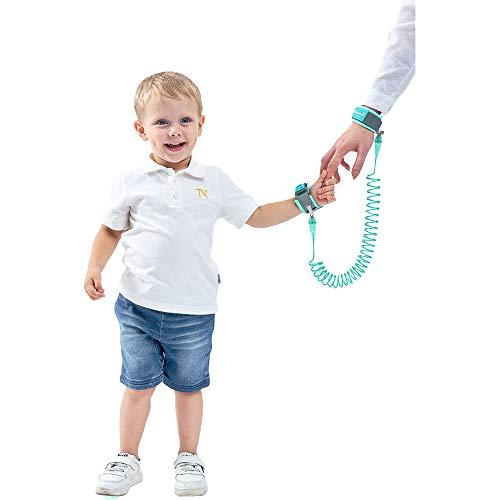 OZCOWBABY Sicherheitsleinen Kinder Sicherheits Seil Anti Lost Wristband Mit Schloss Reisen Helfer Kinder Sicherheitsgurt Schnur für Handgelenk Link 2M Grün