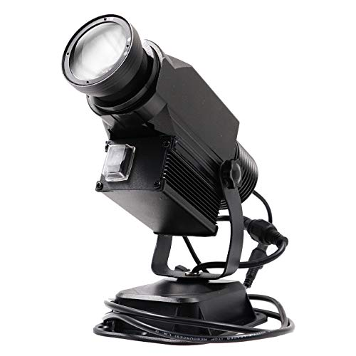WAJECT LED Logo Gobo Projector IP65 Waterproof with Rotating Images DJ Effect Light Including Free Custom Glass Gobo to Project Image for Company Store Wedding Advertising (15W, Outdoor)