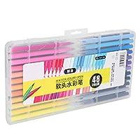 さまざまな色ユニークな明るい色の水彩ペンポータブル速乾性の描画水彩マーカー、初心者/専門家向け(48 colors)