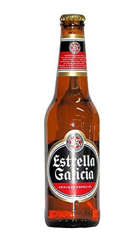 12 x Spanisches Bier/Cerveza española Estrella Galicia (Pfandflasche)