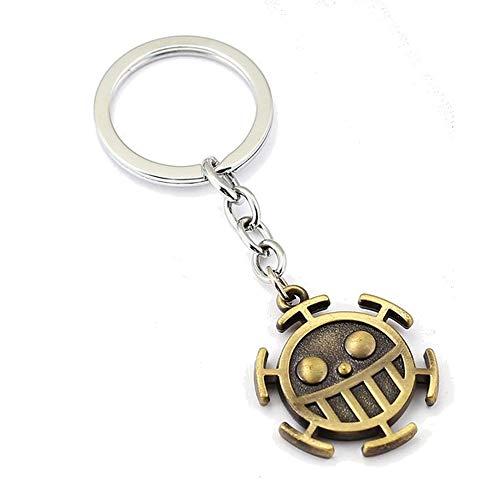 Générique One Piece Porte-clés Métal Trafalgar Law Logo Equipage du Heart Pirates