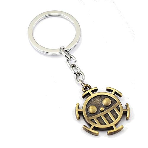 One Piece Llavero de Metal Trafalgar Law Logo Heart Pirates
