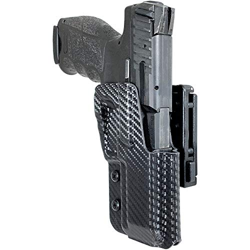 Black Scorpion Outdoor Gear OWB Kydex Pro IDPA Competition Holster fits Heckler and Koch VP9 (Carbon Fiber)