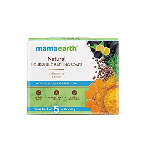 Mamaearth Natural Nourishing Bathing Soap – 5x75g
