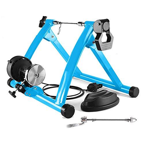 NNZZY Frein Magnétique Home Trainer Vélo Smart Et Home Trainer avec Un Bouton De Vitesse À Libération Rapide Support À Rouleau Pliable