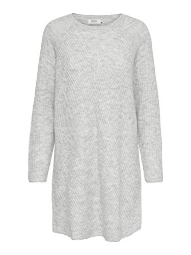 ONLY Female Kleid Strick XSLight Grey Melange