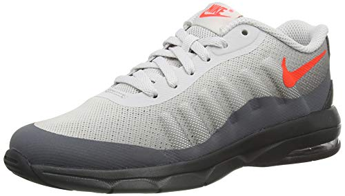Nike Air Max Invigor Sneaker, Dk Grey BRT Crimson Vapste Grey Off Noir Black, 28.5 EU