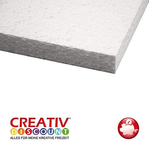 CREATIV DISCOUNT Styroporform, Platte, 50 x 30 x 2 cm, 5 Stück