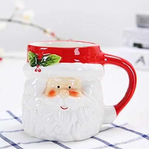 Mug Tasse Becher Geschenk 380 Ml 3D Kreative Kaffeebecher Cartoon Weihnachten Tassen Und Becher Weihnachtsmann Elch Schneemann Pinguin Keramiktasse Geschenk Für Kind Weihnachten, Weihnachtsmann