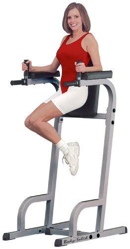 Body-Solid GVKR60 Vertical Knee Raise with Dip Station for Abdominal and Core Training, Home and Commercial Gym