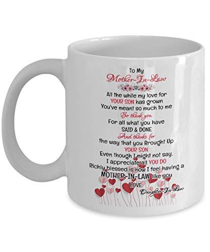 Not Applicable An Meine Schwiegermutter Tasse - Schwiegermutter Geschenke von Schwiegertochter - Große Geschenkideen für Weihnachten, Geburtstag, Muttertag