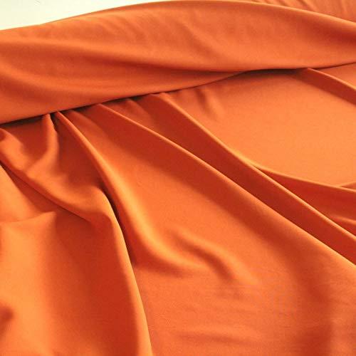 TOLKO Modestoff | Dekostoff universal Stoff zum Nähen Dekorieren | Blickdicht, knitterarm | 150cm breit Meterware Bekleidungsstoffe Dekostoffe Vorhangstoffe Baumwollstoffe Basteln Patchwork (Terra)