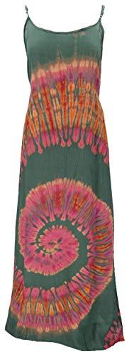 GURU SHOP Batik Maxikleid, Strandkleid, Sommerkleid, Langes Kleid, Damen, Grün, Synthetisch, Size:40, Lange & Midi-Kleider Alternative...