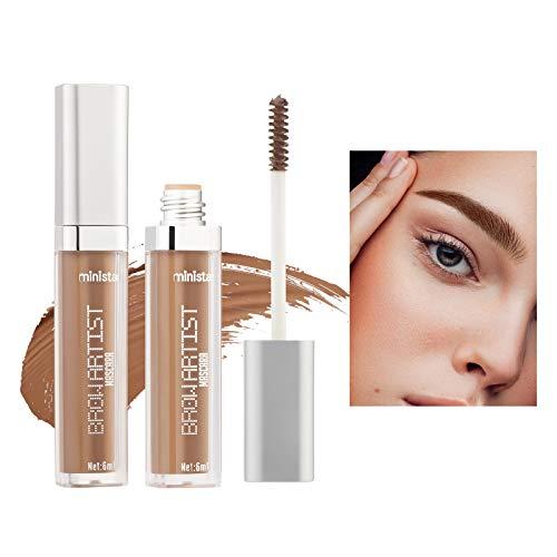 Mimore Gel de cejas de larga duración para maquillaje de cejas a prueba de agua, gel de extensión, relleno de fibra precisa, ceja, aumento de cabello, herramienta de maquillaje en crema (03)