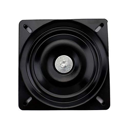 AAGUT 7'' Heavy Duty Bar Stool Swivel Replacement Seat Swivel Base Bar Stool Swivel Plate,Black