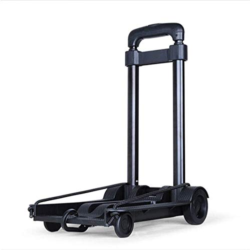 XINTONGSPP Portable Shopping Trolley, Light Small Trolley, Mini Foldable Trolley for Household Pull Water And Goods, Small Shopping Trolley for Elderly, Black