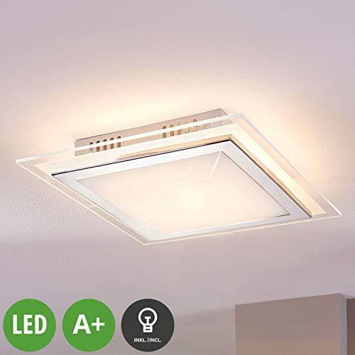 Preisvergleich Produktbild LINDBY LED Deckenleuchte 'Alessio' (Modern) in Weiß aus Glas u.a. für Wohnzimmer & Esszimmer (1 flammig,  A+,  inkl. Leuchtmittel) - Lampe,  LED-Deckenlampe,  Deckenlampe