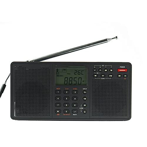 KDLK Radio estéreo portatil Am FM Sintonización Digital de Banda Completa con ETM ATS DSP Receptor de Altavoces duales Reproductor de MP3