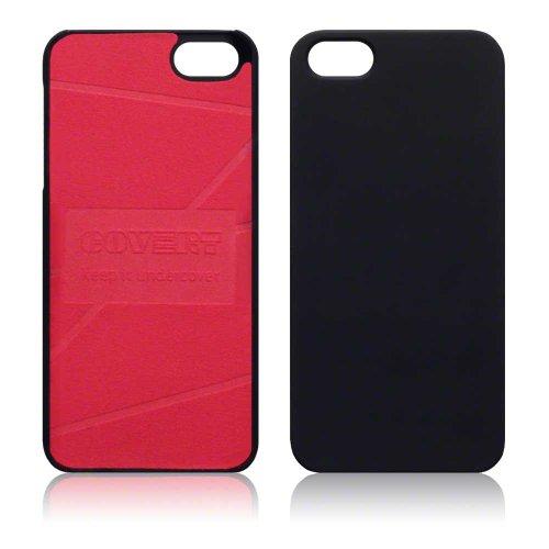 Covert Slim Armour Case - Cover per Apple iPhone 5/5S, Nero e Rosso