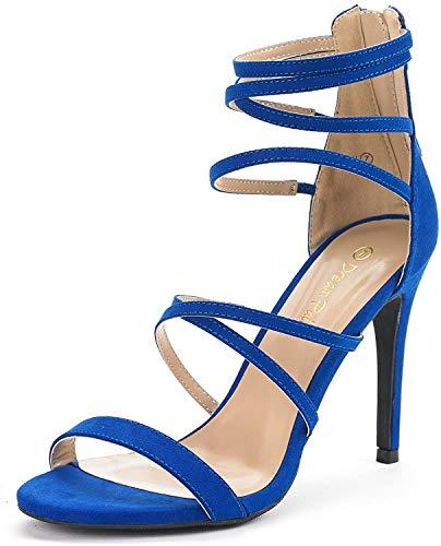 DREAM PAIRS Women's Show Royal Blue High Heel Dress Pump...