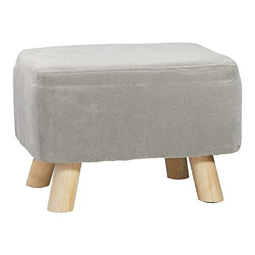 Hocker mit Polster │Fußhocker rechteckig grau │einsetzbar als Beinstütze oder Eingangsbank