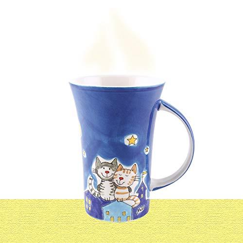 Mila Keramik-Becher, Coffee Pot, NachtKatzen | MI-82445 | 4045303824454