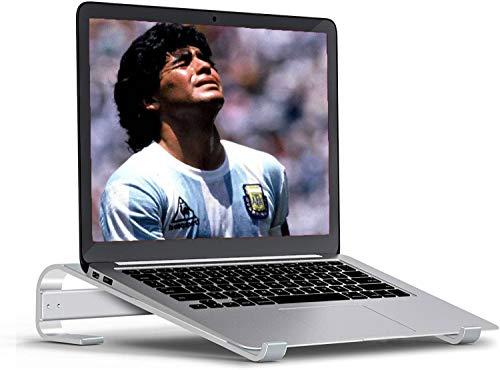 Elevador de ordenador portátil, soporte para ordenador portátil, sin ventilador, compatible con MacBook Pro de 15 pulgadas y 17 pulgadas (aluminio cepillado)
