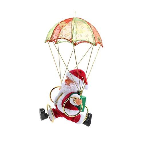 Vosarea Christmas Ornament Christmas Parachute Santa Claus Figurine Xmas Tree Hanging Decoration Holiday Christmas Party Supplies Favors Xmas Gifts