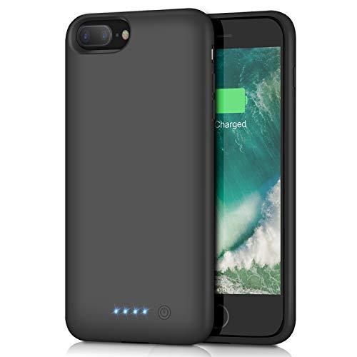 Battery Case for iPhone 8Plus/7Plus/6Plus/6s Plus【8500mAh】 Portable Rechargeable External Battery Pack for iPhone 6s Plus/ 6Plus Charger Case for iPhone 8Plus/ 7Plus Protective Charging Case -Black