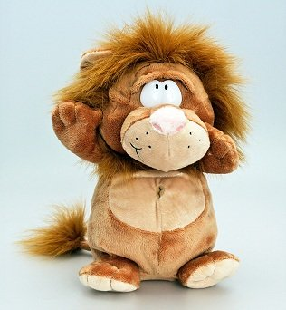 Keel Toys Deluxe 26cm Lion Podgeys Wild Plush Soft Toy by Keel Toys