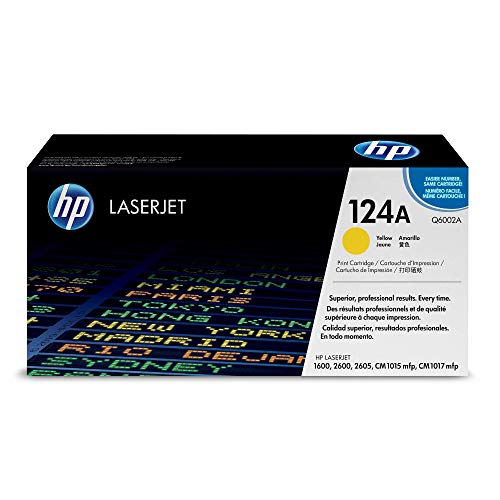 HP 124A (Q6002A) Gelb Original Toner für HP Color Laserjet 2600, 2605, 1600, CM1016, CM1017
