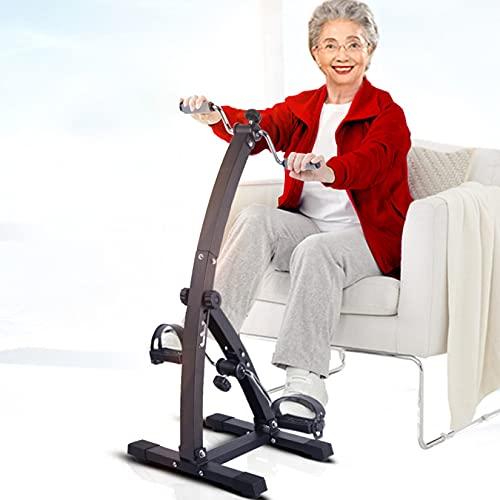BOTOWI Bicicleta de Ciclismo de Interior con Resistencia Ajustable, Mini Bicicletas Indoor para Brazos y piernas, Bicicleta Spinning Bicicleta de recuperación para Personas Mayores
