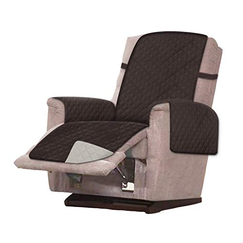 RHF Reversible Oversized Recliner Cover & Oversized Recliner Covers,Slipcovers for Recliner, Recliner Chair Cover,Pet Cover for Recliner,Machine Washable(XRecliner:Oversized:Chocolate Beige)