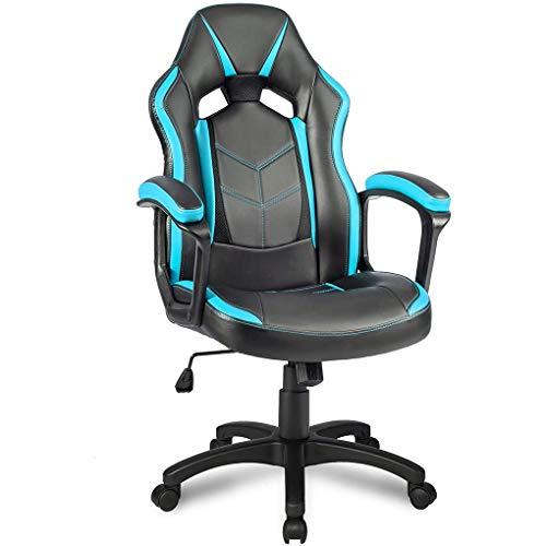 Schreibtischstuhl, Armlehnen gepolstert & ergonomische Rückenlehne, Bürostuhl Drehstuhl Gaming-Stuhl