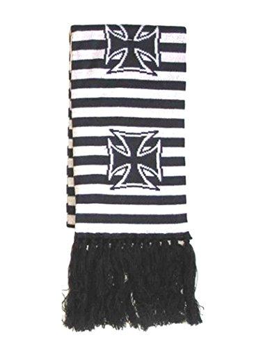 Armardi a Écharpe d'hiver Croix Noir Blanc