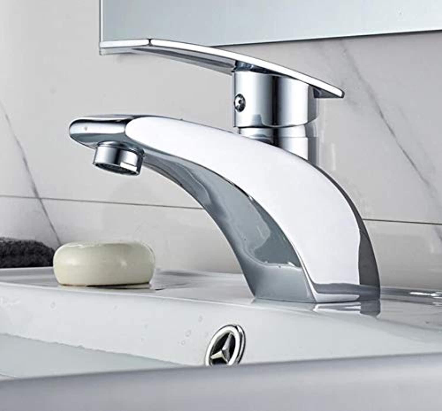 Bathroom Faucet Single Lever Bathroom Faucet Chrome Polished Solid Brass Lavatory Hot and Cold Basin Mixer Tap Water Mixer Taps
